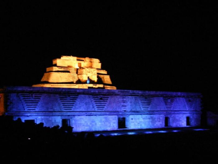 Uxmal light and sound